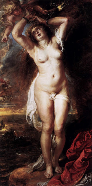 Andromeda - Oil Painting by Peter Paul Rubens c.1638